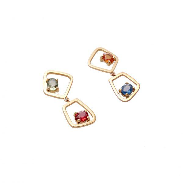 Earrings - Four Sapphires