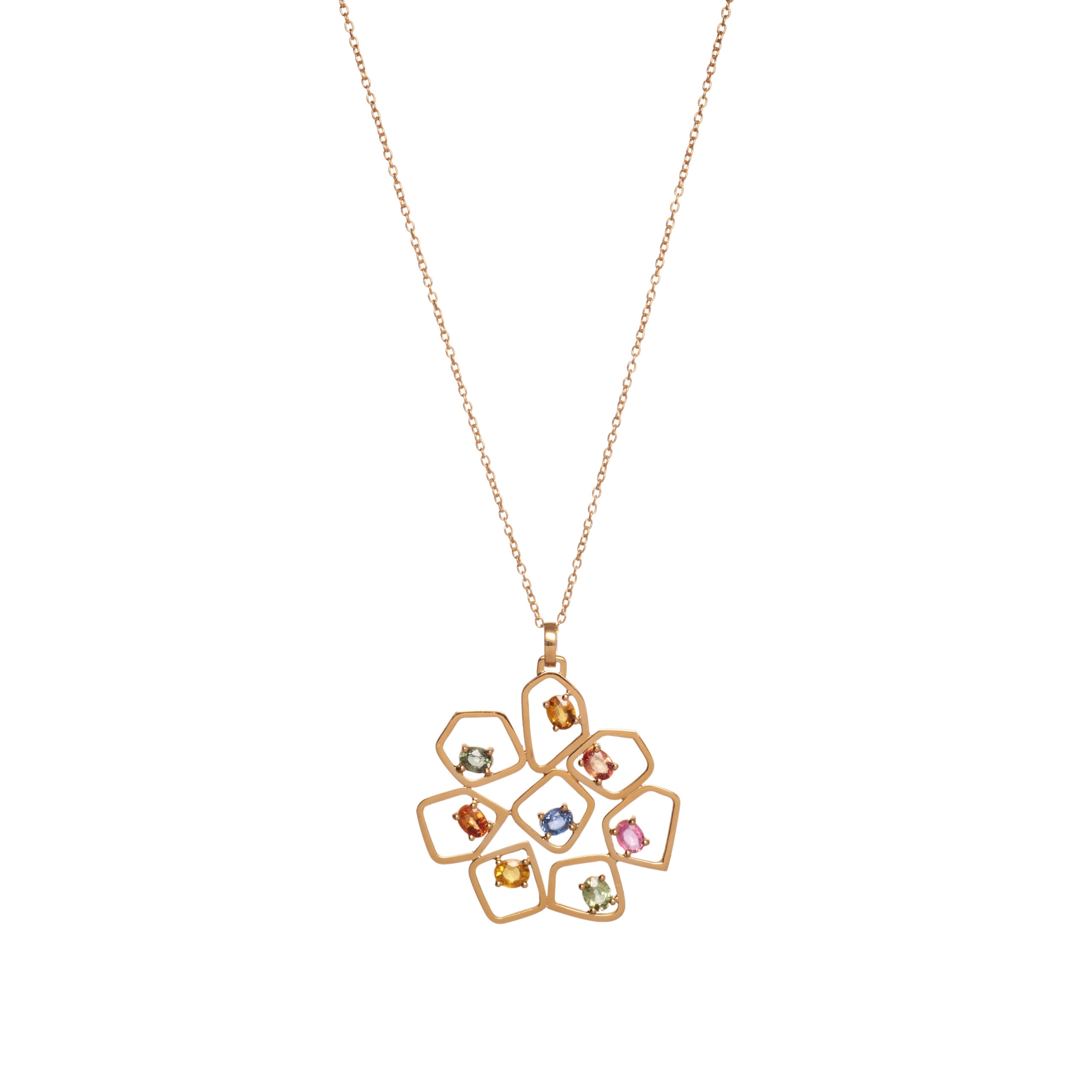 Necklace - Eight Sapphires