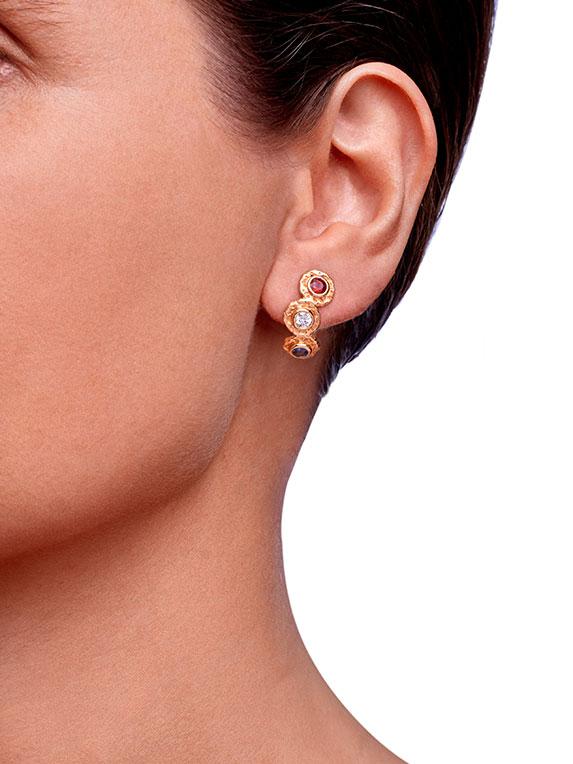Earrings - Six Stones